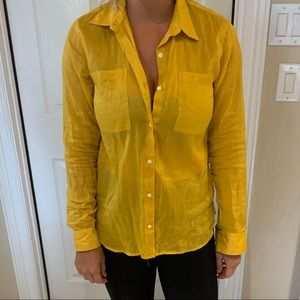 Yellow button up long sleeve